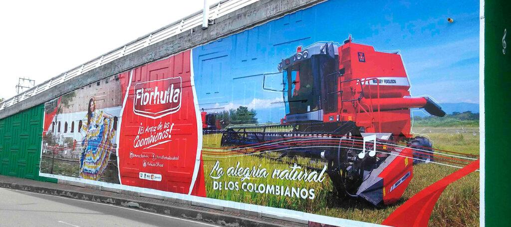campaña la alegría natural de los colombianos - Murarte